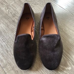 Purple Suede H&M Loafers